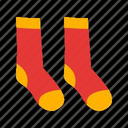 cold, fashion, foot, socks, textile, warm, wool icon