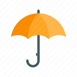autumn, drops, happy, rain, umbrella, water, weather icon