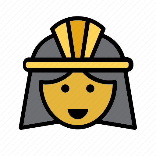 avatar, cleopatra, egypt, egyptian, face, people, person icon