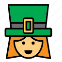 avatar, face, ireland, irish, people, person, woman icon