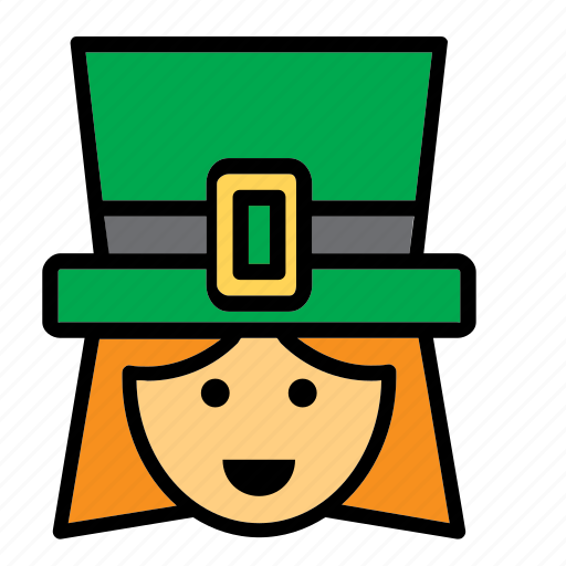 avatar, face, ireland, irish, people, person, woman icon