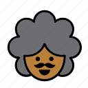 afro, america, american, avatar, man, people, person icon