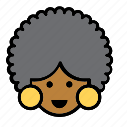 afro, america, american, avatar, people, person, woman icon