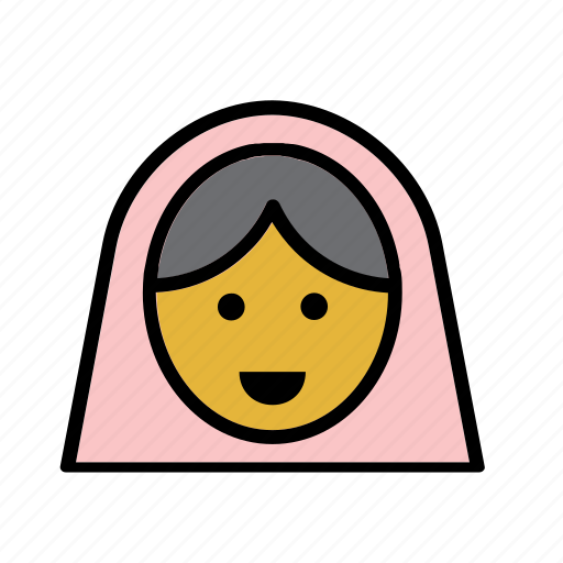 arab, avatar, people, person, user, veil, woman icon