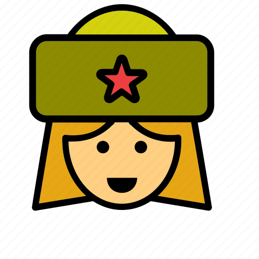 avatar, partisan, people, person, russian, soldier, woman icon