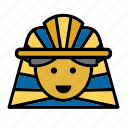 avatar, egypt, egyptian, face, people, person, pharaoh icon