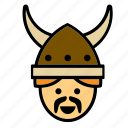 avatar, face, man, people, person, user, viking icon