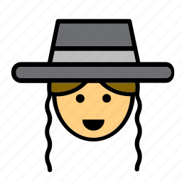 amish, face, jew, jewish, man, people, person icon
