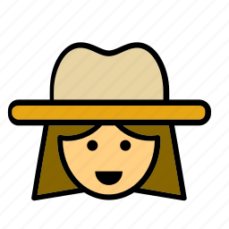 avatar, cowgirl, face, people, person, user, woman icon