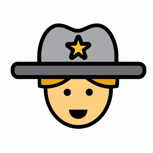 avatar, cowboy, man, people, person, sheriff, user icon