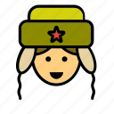 man, partisan, people, person, russian, soldier, user icon