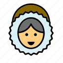 avatar, eskimo, face, people, person, user, woman icon