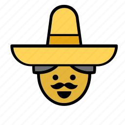 avatar, face, man, mexican, mexico, people, person icon