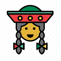 avatar, people, person, peru, quechua, user, woman icon