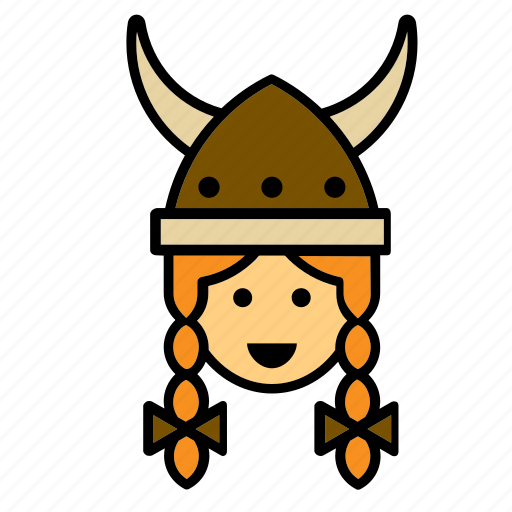 avatar, face, people, person, user, viking, woman icon