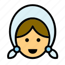 amish, avatar, face, people, person, user, woman icon