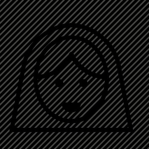 arab, avatar, people, person, user, veil, woman icon