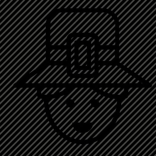 avatar, face, man, people, person, pilgrim, user icon