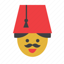 fez, hat, man, people, person, turkey, turkish icon
