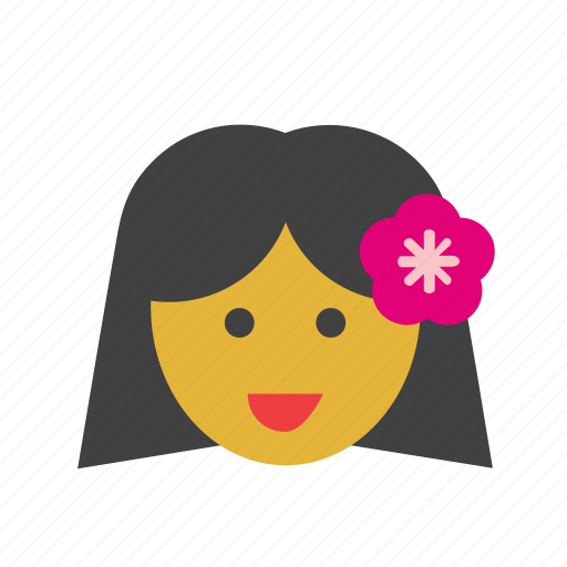 face, girl, hawaii, hawaiian, people, person, woman icon