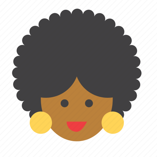 afro, america, american, people, person, woman icon