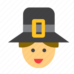 avatar, face, hat, man, people, person, pilgrim icon