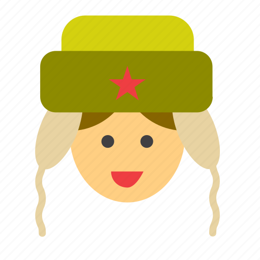 face, hat, man, partisan, people, person, soldier icon