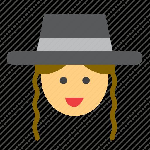 amish, hat, jew, jewish, man, people, person icon