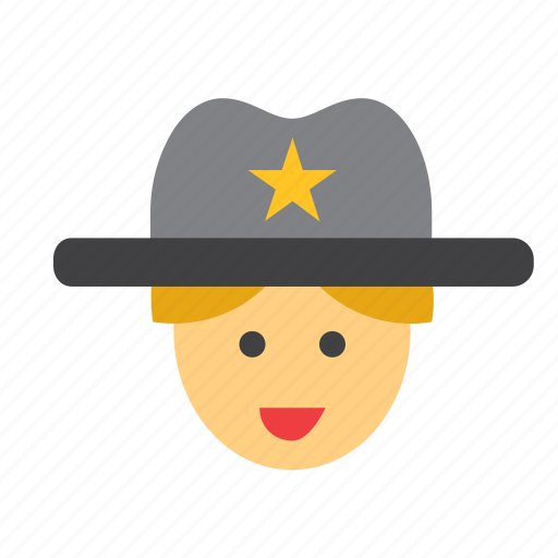 avatar, cowboy, face, far west, people, person, sheriff icon