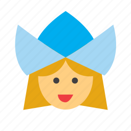 avatar, face, girl, people, person, pilgrim, woman icon