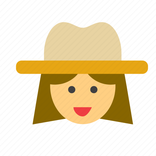avatar, cowboy, cowgirl, face, far west, people, person icon