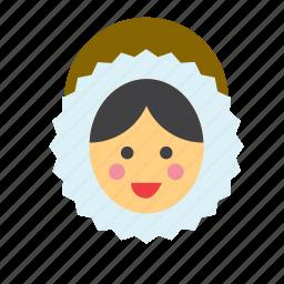 avatar, eskimo, face, people, person, user, woman icon