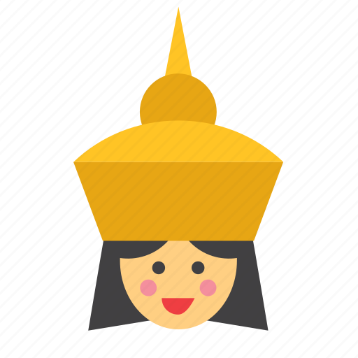avatar, face, people, person, thai, thailand, woman icon