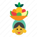 carmen miranda, cuba, cuban, fruits, hat, people, woman icon