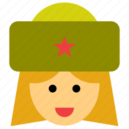 avatar, face, partisan, people, person, soldier, woman icon