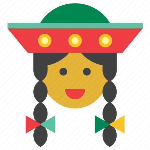 girl, indigenous, people, peru, peruvian, quechua, woman icon