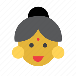 face, hindu, india, indian, people, person, woman icon