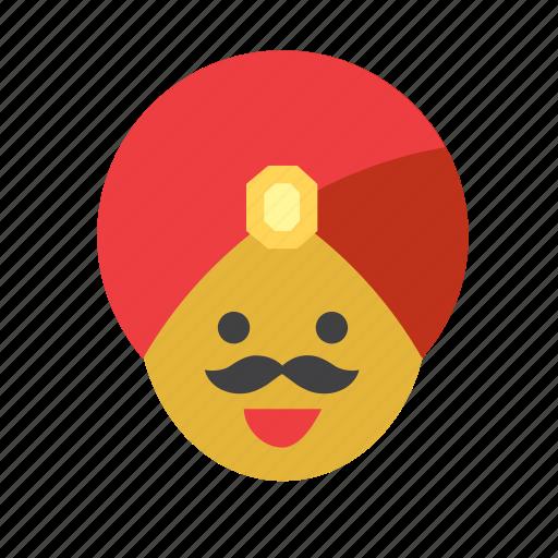 hat, hindu, india, indian, man, people, turban icon