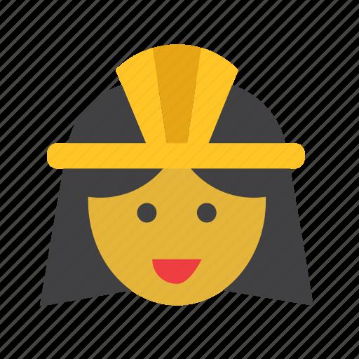 cleopatra, egypt, egyptian, man, people, person, woman icon