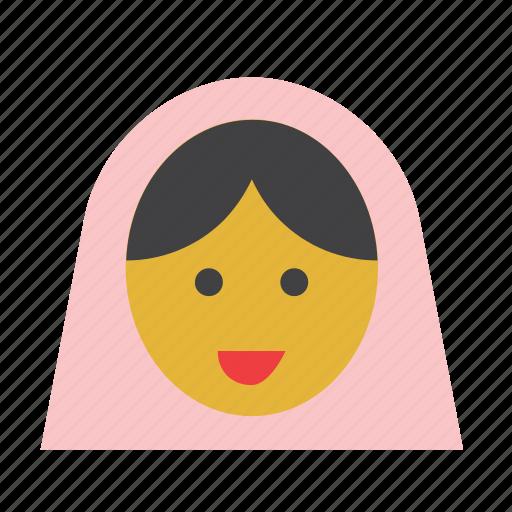 arab, arabian, avatar, face, people, veil, woman icon