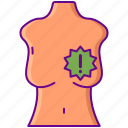 awareness, breast, cancer, lump icon