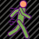 brisk, fast, walking icon