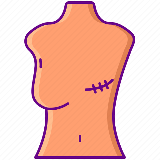 breast, mastectomy, removal icon
