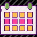 calendar, menstrual, period