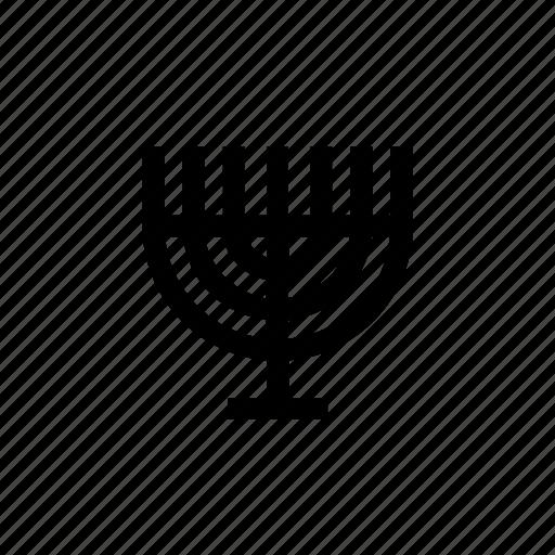 candelabrum, candle, candles, israel, judaica, menora, menorah icon