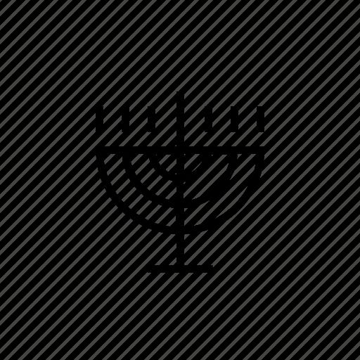 candlestick, fire, holiday, judaica, light, menora, menorah icon