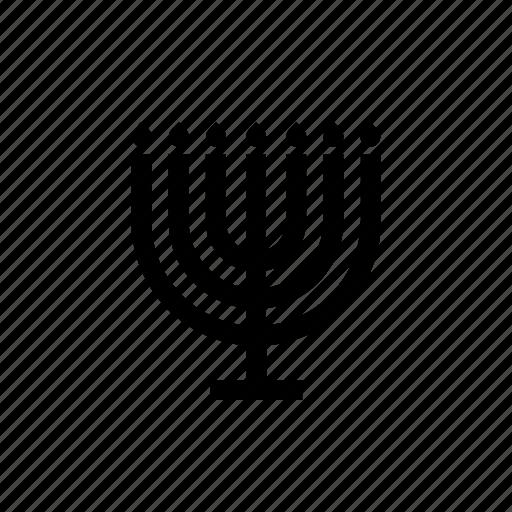 candlestick fire flame israel jewish menora menorah icon