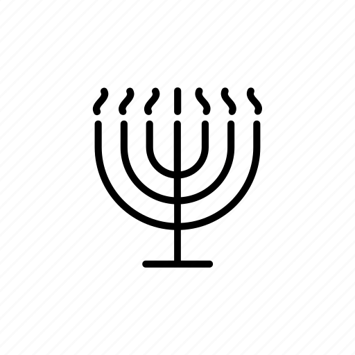 burning, candles, flame, judaica, menora, menorah, temple icon
