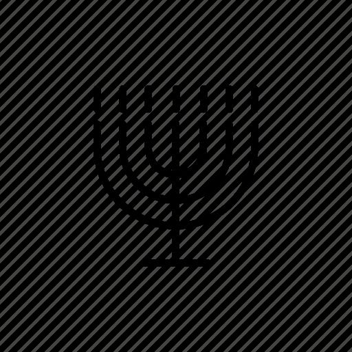 candle, decoration, flame, israel, jewish, menora, menorah icon