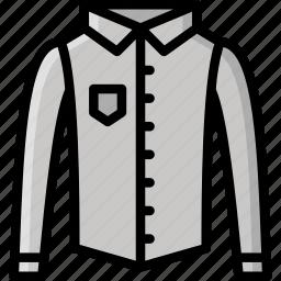 clothing, colour, mens, shirt, smart icon
